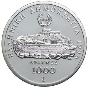 Grecja, 1000 drach 1996, 100-lecie Igrzysk Olimpijskich-Biegi