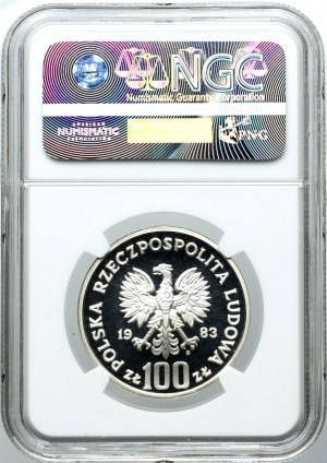 100 złotych 1983, Niedźwiedzie, PRÓBA, NGC PF69