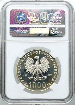 1000 złotych 1982, Jan Paweł II, PRÓBA, NGC PF65