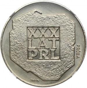 200 złotych 1974, XXX lat PRL, PRÓBA NIKIEL, NGC MS66
