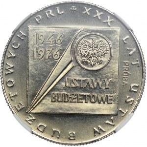 20 złotych 1976, XXX Lat Ustaw Budżetowych PRL, PRÓBA NIKIEL, NGC MS65