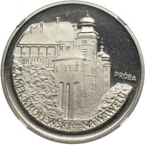 100 złotych 1977, Zamek Królewski na Wawelu, PRÓBA NIKIEL, NGC PF68