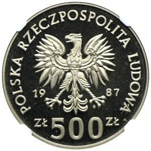 500 złotych 1987, XV Zimowe Igrzyska Olimpijskie 1988, PRÓBA NIKIEL, NGC PF68