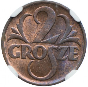 2 grosze 1938, NGC MS64+ RB