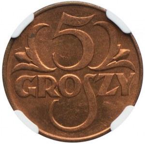 5 groszy 1938, NGC MS64 RD