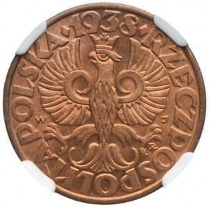 5 groszy 1938, NGC MS64RD