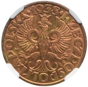 5 groszy 1938, NGC MS64RB
