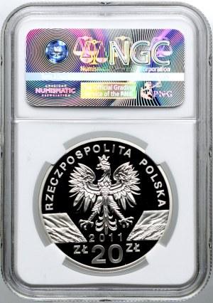 20 złotych 2011, Borsuk, NGC PF69