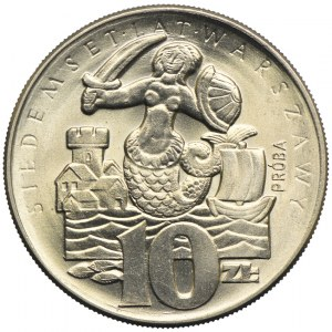 10 złotych 1965, 700-lat Warszawy, PRÓBA