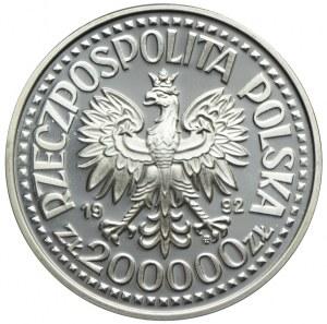 200.000 złotych 1992, Władysław III Warneńczyk, półpostać