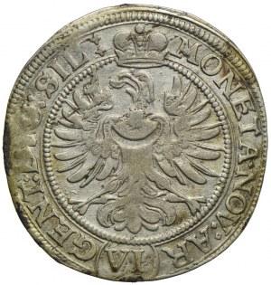 Śląsk, Księstwo Legnicko-Brzesko-Wołowskie - Ludwika Anhalcka (regentka), 6 krajcarów 1673, Brzeg