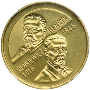 2 złote 1996, Henryk Sienkiewicz, NGC MS67