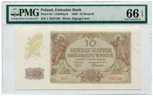 10 złotych 1940 - Ser.J.