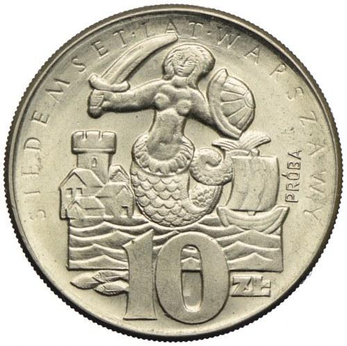 10 złotych 1965, 700 lat Warszawy, PRÓBA