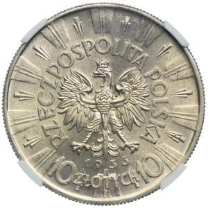 10 złotych 1936, Józef Piłsudski, NGC MS64