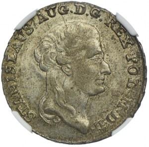Stanisław August Poniatowski, dwuzłotówka 1792 EB, Warszawa, NGC MS62