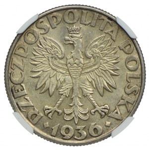 2 złote 1936, Żaglowiec, NGC MS62