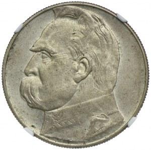 10 złotych 1935 Józef Piłsudski, NGC AU58