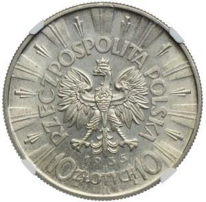 10 złotych 1935 Józef Piłsudski, NGC MS61