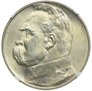 10 złotych 1936, Józef Piłsudski, NGC MS61