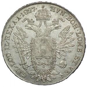 Austria, Franciszek II, talar 1827 A, Wiedeń