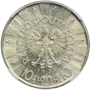 10 złotych 1939, Józef Piłsudski 1939, NGC MS61