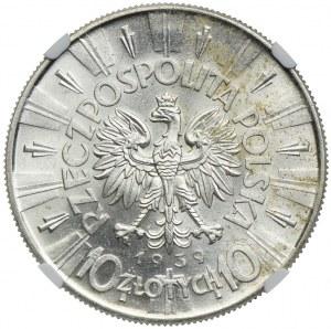 10 złotych 1939, Józef Piłsudski, NGC MS63