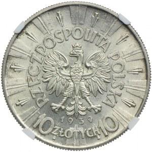 10 złotych 1939, Józef Piłsudski 1939, NGC MS62
