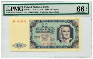 20 złotych 1948 - Ser. HW.