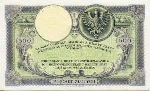 500 złotych 1919 - Ser. SA.