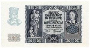 20 złotych 1940, bez serii i numeracji