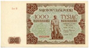 1000 złotych 1947, seria B