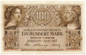 100 marek 1918, Kowno