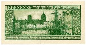 10 milionów marek 1923, Gdańsk, bez oznaczenia serii