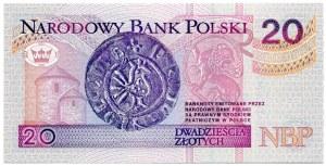 20 złotych 1994, seria AA 0009422