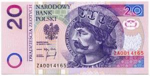20 złotych 1994, ZA 0014165, seria zastępcza