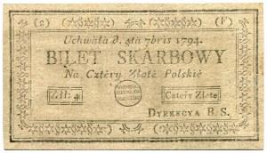 4 złote 1794 (2)(F)