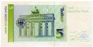 Niemcy, 5 marek 1991, seria A