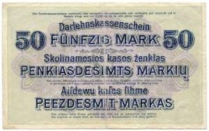 50 marek 1918, seria F, Kowno