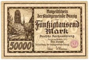50.000 marek 1923, Gdańsk