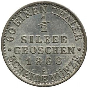 Niemcy, Prusy, 1/2 grosza srebrnego 1868A, Berlin
