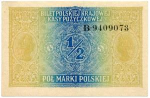 1/2 marki 1916 Generał seria B