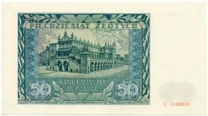 50 złotych 1941 seria C