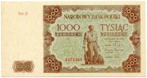 1000 złotych 1947 seria D