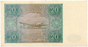 20 złotych 1946 seria C