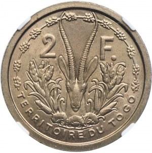 Togo, 2 franki 1948 ESSAI, NGC MS65