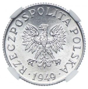 1 grosz 1949, NGC MS65