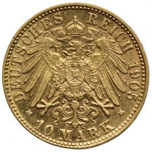Niemcy, Hamburg-miasto, 10 marek 1905 J, Hamburg