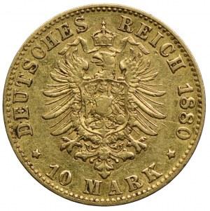 Niemcy, Hamburg-miasto, 10 marek 1880 J, Hamburg