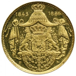 Niemcy, Bawaria, Ludwik II Bawarski, medal, złoto